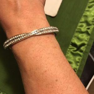 Gorgeous silver tone Swarovski Crystal bracelet